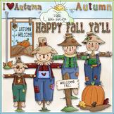 Fall Scarecrows Clip Art - Autumn Clip Art - Fall Clip Art