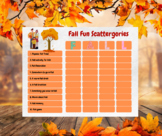 Fall Scattergories Game
