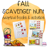 Fall Scavenger Hunt Adapted Books and Activities