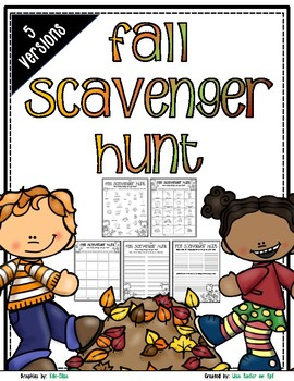Fall Scavenger Hunt - Fall Nature Walk Exploration