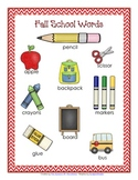 Fall School Words {A Writing Centre Activity}