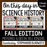 Fall Science History Bell Ringers
