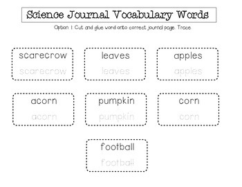 Fall Science Journal (Preschool)