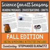 Fall Science Reading Passages and Activities