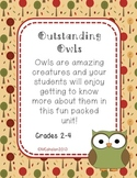 Fall Science Mini Unit: Outstanding Owls