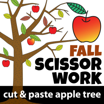 Fall Scissor Work / Cut & Paste Apple Tree