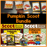 Pumpkin Scoot Math Games for Kindergarten and First Grade