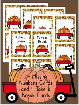 Pumpkins- A Math Scoot Game/Center For Missing Numbers 11-20
