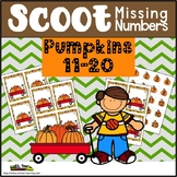 Pumpkin Math Scoot Game and Center For Missing Numbers 11-20