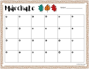 Fall Scoot / Count the Room - Spanish Bilingual
