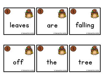 Fall Scrambled Sentences