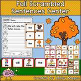 Fall Scrambled Sentences Center