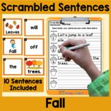 Fall Scrambled Sentences Center