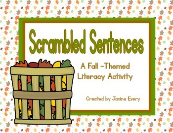Fall Scrambled Sentences FREEBIE!