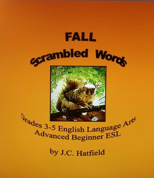 Fall Scrambled Words