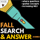 Fall Search & Answer Flashlight | Where Questions & Concep
