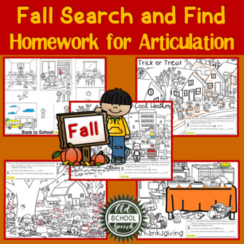 Fall Search & Find Homework for Articulation