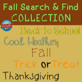 Fall Search and Find COLLECTION for BOOM Cards for Speech Therapy