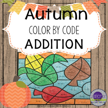 Fall Season Color by Number Addition
