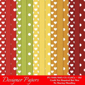 Fall Season Colors 1 Digital Paper Backgrounds package 1