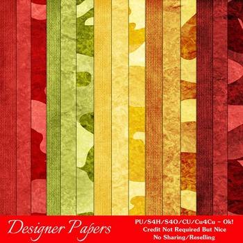 Fall Season Colors 1 Digital Papers Package 3