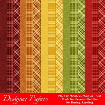 Fall Season Colors 1 Digital Papers Package 2