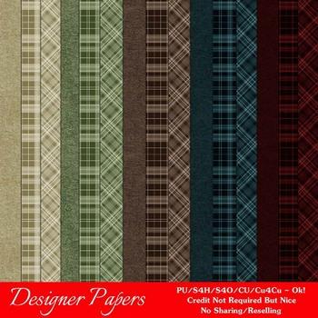 Fall Season Colors 2 Digital Papers Package 2