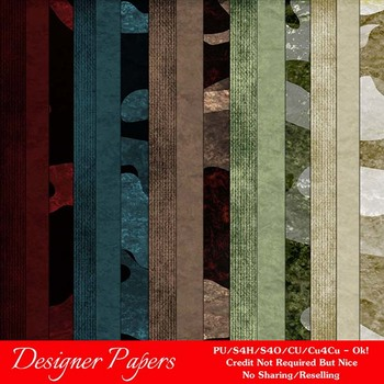 Fall Season Colors 2 Digital Papers Package 3