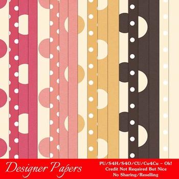 Fall Season Colors 3 Digital Papers Package 1