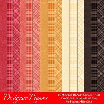 Fall Season Colors 3 Digital Papers Package 2