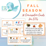 Fall Season Conversation Cards for ELLs