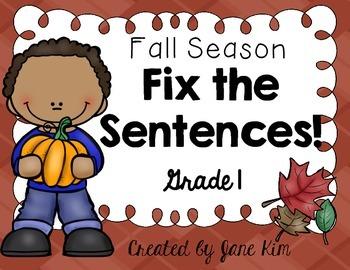 Fix the Sentences-Fall Season
