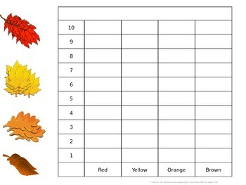Fall Season Graphing Pack - Whole Group, Adaptable & Editable!