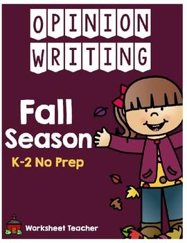 Fall Season Opinion Writing Pack