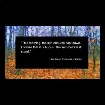 Fall Season in Figurative Language Power Point with Exit Ticket