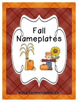 Fall Seasonal Desk Nameplates