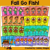 Fall Seasonal Fun Go Fish Game - Themed Game and Writing