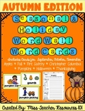 Fall Word Cards {Word Wall and Read/Write the Room}