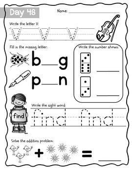 Fall Semester MEGA Bundle of Morning Work, Kindergarten Edition! CCSS