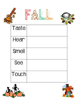 Fall Senses Poem Organizer