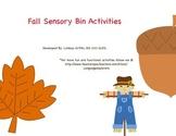 Fall Sensory Bin Activities