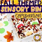 Fall Sensory Bin Companion For Speech & Language