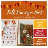 Fall Sensory Bin - Scavenger Hunt INTERACTIVE WORKSHEET