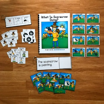 """Fall Sentence Builder Book:  """"What Is Scarecrow Doing?"""""""