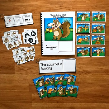 "Fall Sentence Builder Book:  ""What Is Squirrel Doing?"""