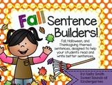 Fall- Sentence Builders!