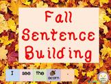 Fall Sentence Builders