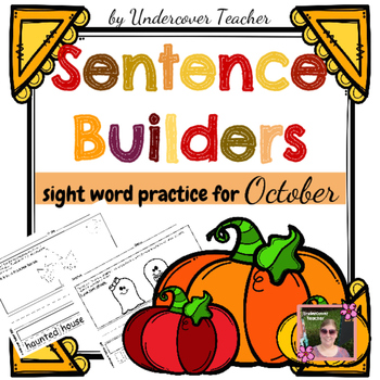 Fall October Sentence Builders {Centers, Stations} Sight Words
