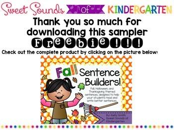 Fall Sentence Builders SAMPLE!