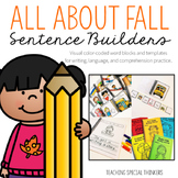 Fall Sentence Builders {Writing, Language, & Comprehension